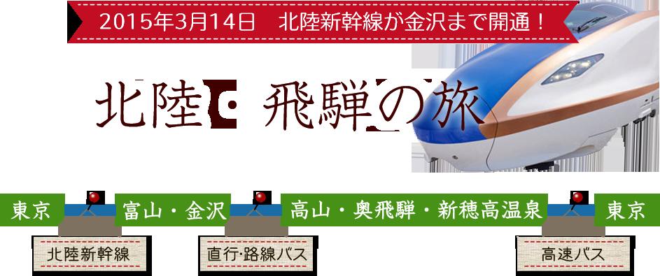 2015年3月14日 北陸新幹線が金沢まで開通! 北陸・飛騨の旅